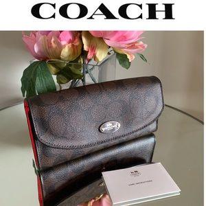 COACH Wallet Pop Slim Payton Envelope Wallet Brown